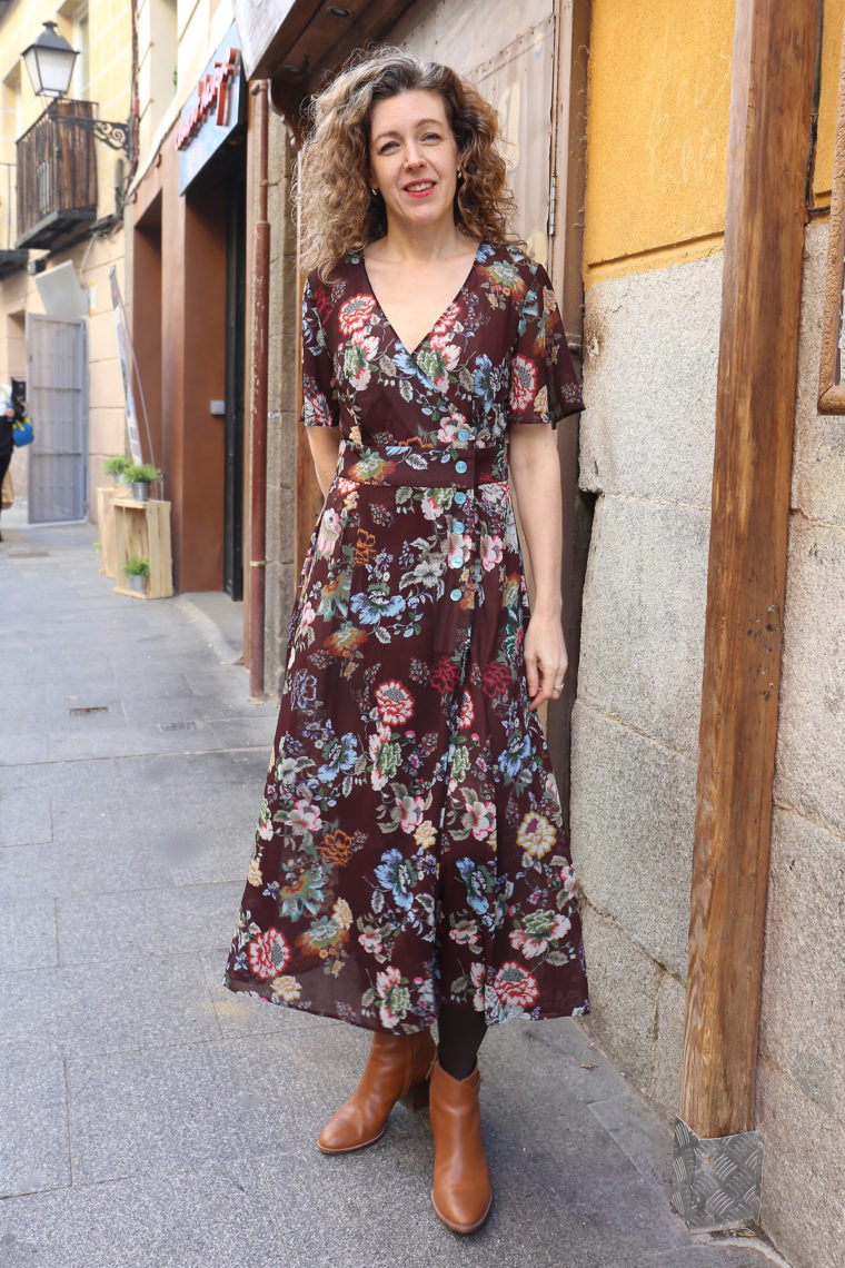 Liesl's floral Saint Germain Wrap Dress
