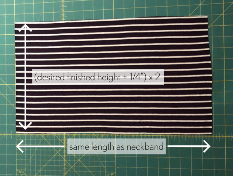 How to draft a turtleneck for any t-shirt pattern