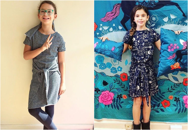 Teach kids to sew using our Girl on the Go sewing pattern!