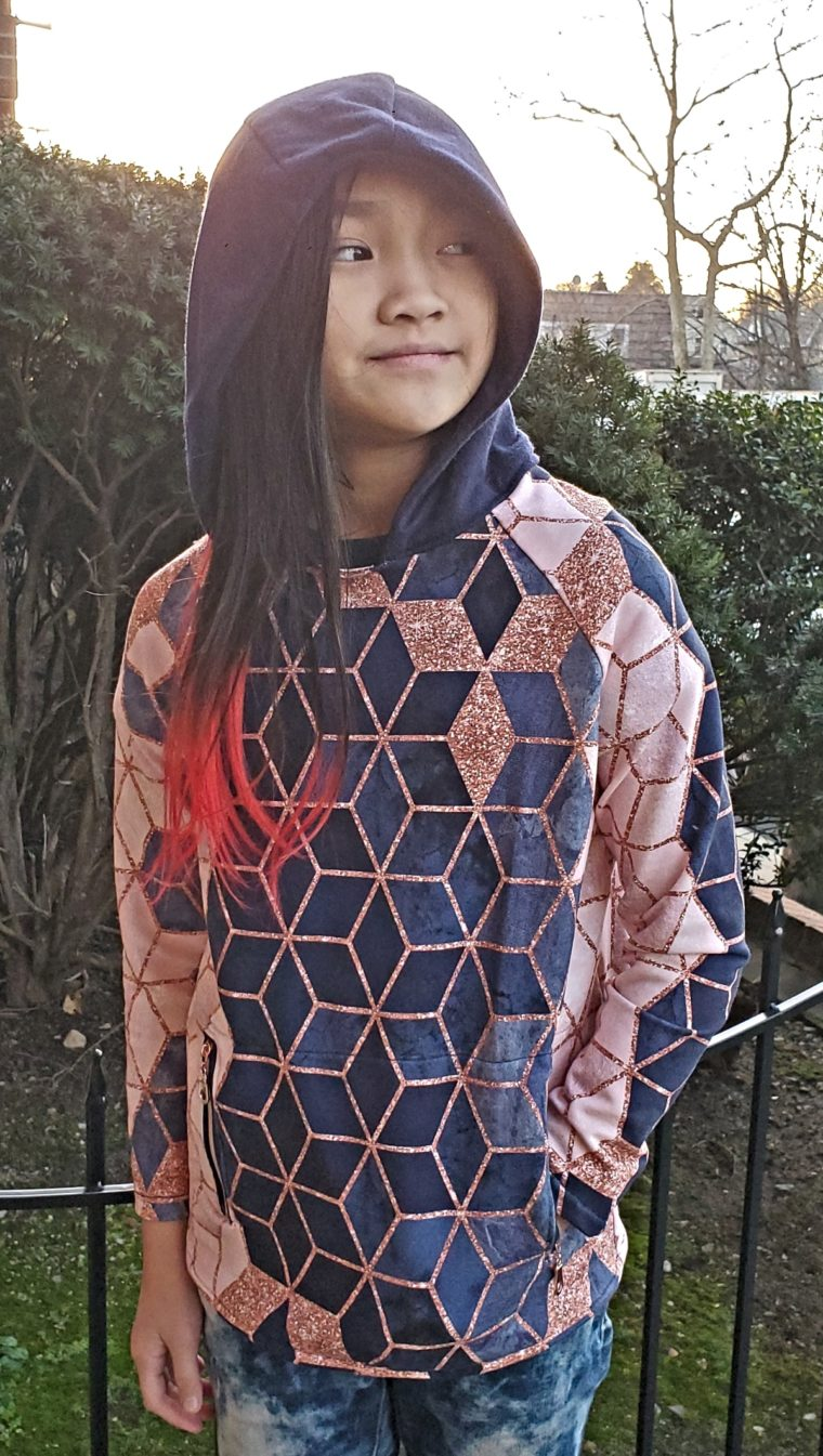 See how Reeni hacked three of our patterns into this cool hoodie.