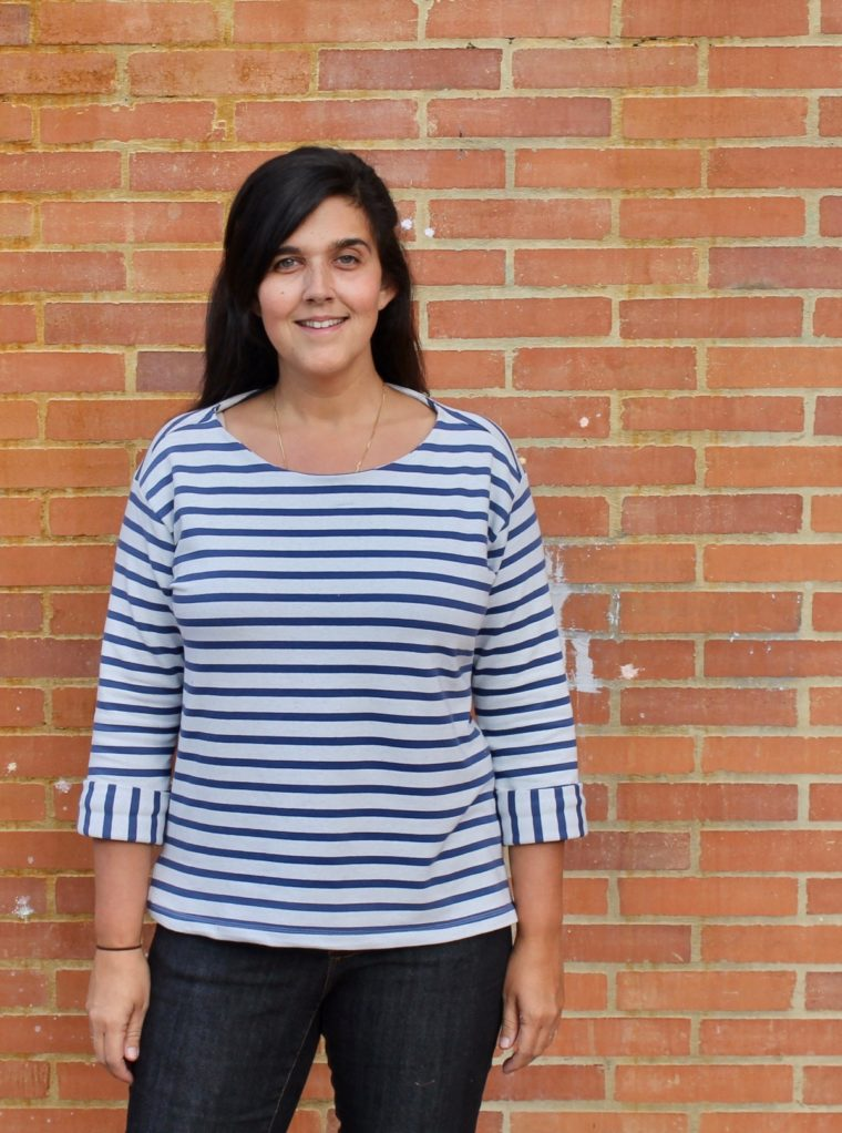 Masha shares her French terry Maritime Top.