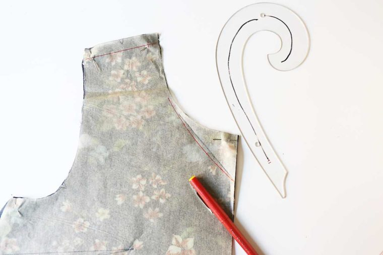marking the change on your sewing pattern