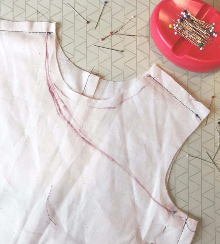 Darcy walks us through the process of making her one-shouldered Building Block Dress.