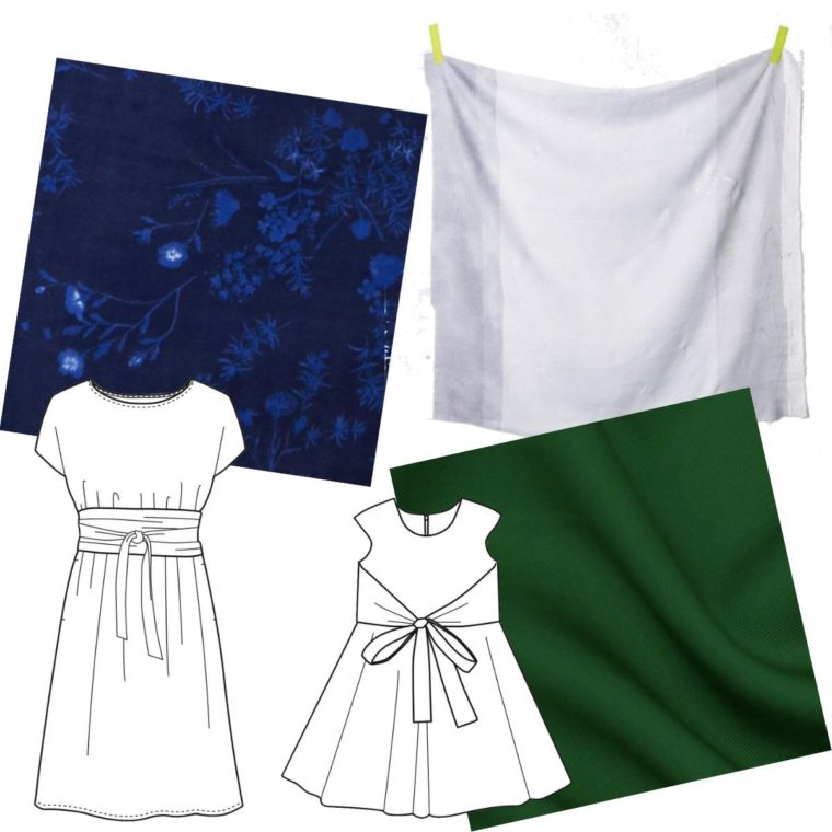 Fabric ideas for a mommy and me pairing of the Terrace Dress and the Cartwheel Wrap Dress.