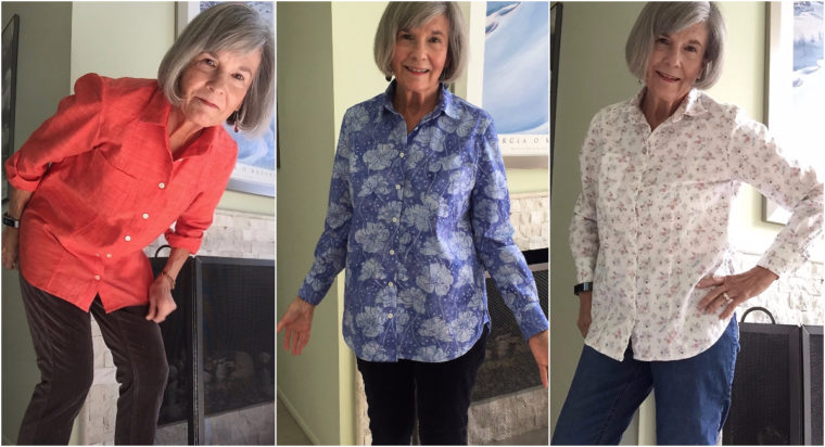 Cindy made these shirts by combining the Recital Shirt and Classic Shirt patterns.