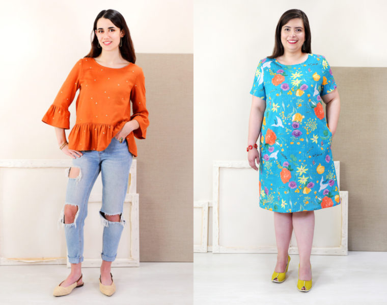 Sew up the Gelato Blouse + Dress pattern for Sew My Style 2020.