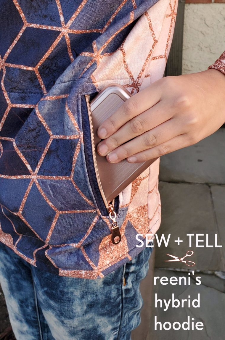 Reeni pattern-hacked her way to this amazing one-of-a-kind hoodie.