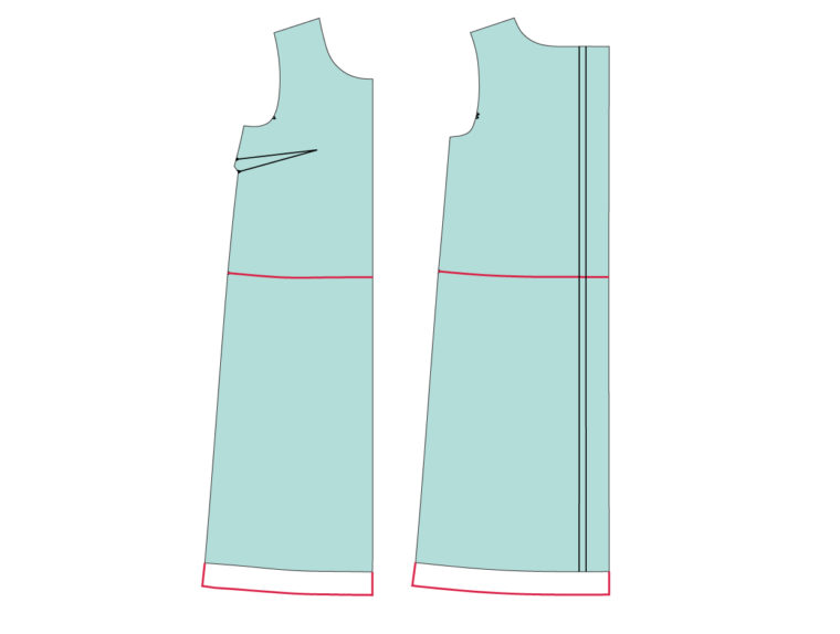 How to add an elastic casing to a dress like the Gelato Dress.