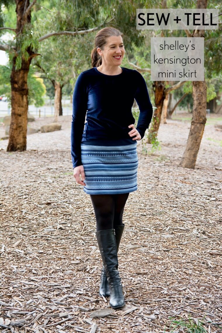 Shelley shortened the Kensington Knit Skirt into a winter mini.