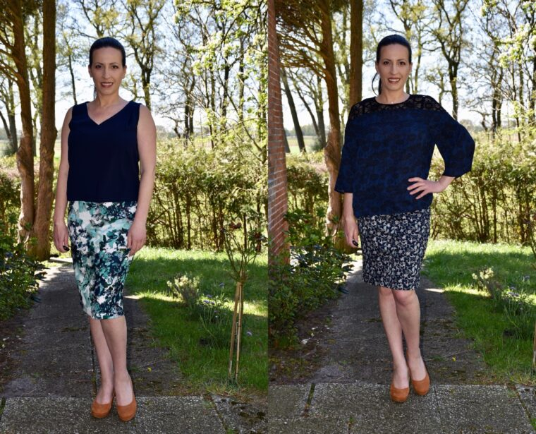 This knit pencil skirt pattern is quick to sew and takes very little fabric.
