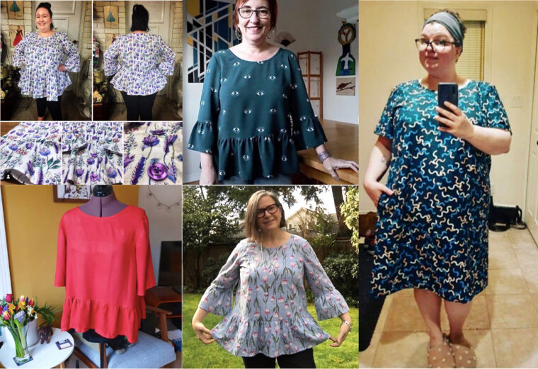 See the blouses and dresses Sew My Style participants made using our Gelato Blouse + Dress pattern.