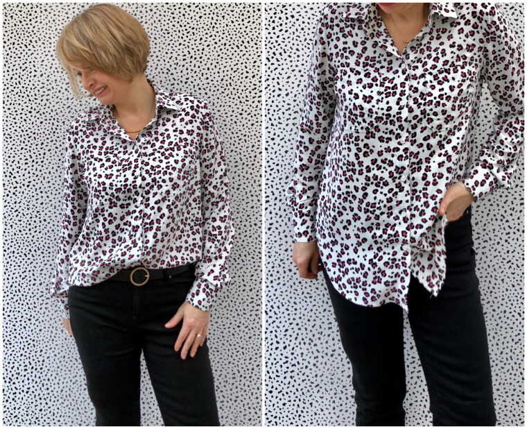 Lucie sewed two totally different shirts using our staple Classic Shirt sewing pattern.
