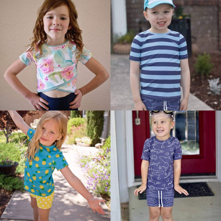 Check out our list of great patterns for sewing kids' swimwear.