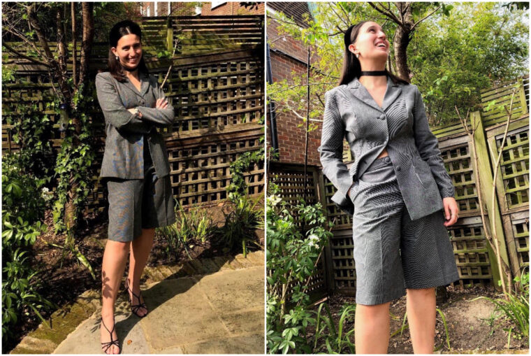 Maryam sewed herself a DIY shorts suit and a pair of classic trousers.