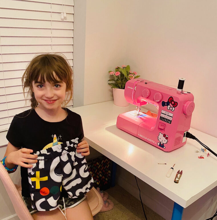Teaching a child to sew is rewarding and educational.