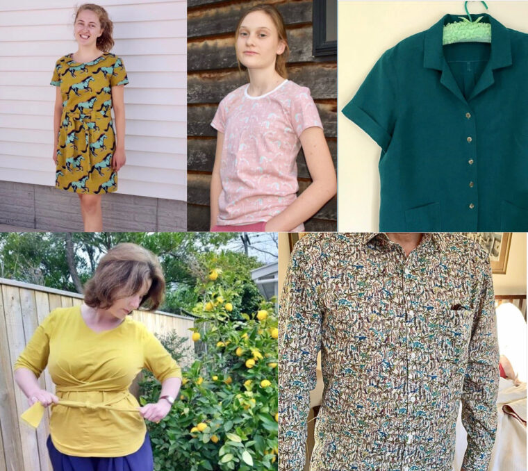 Sewing projects from Oliver + S and Liesl + Co. patterns.