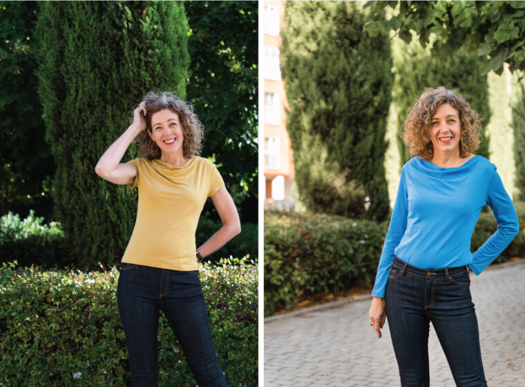 Liesl + Co Easton Cowl-Neck Tee photos