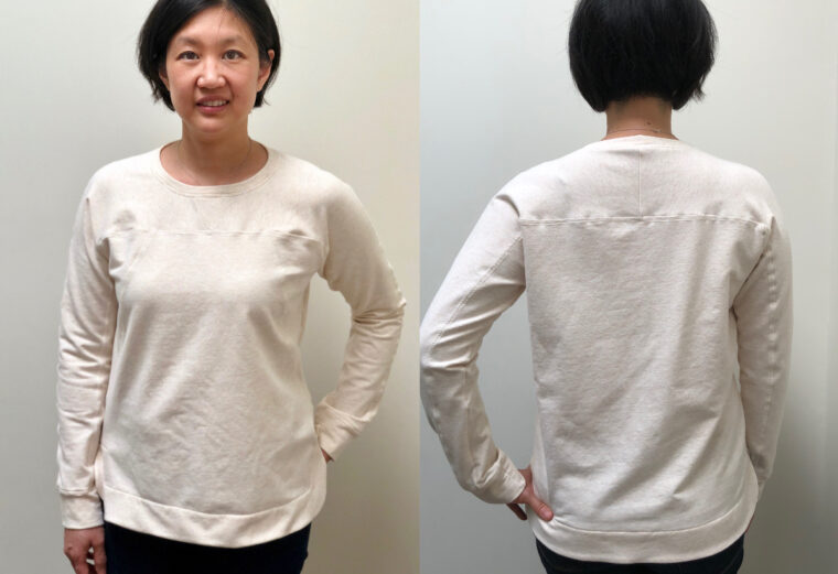 DIY seamed sweatshirt sewing pattern.