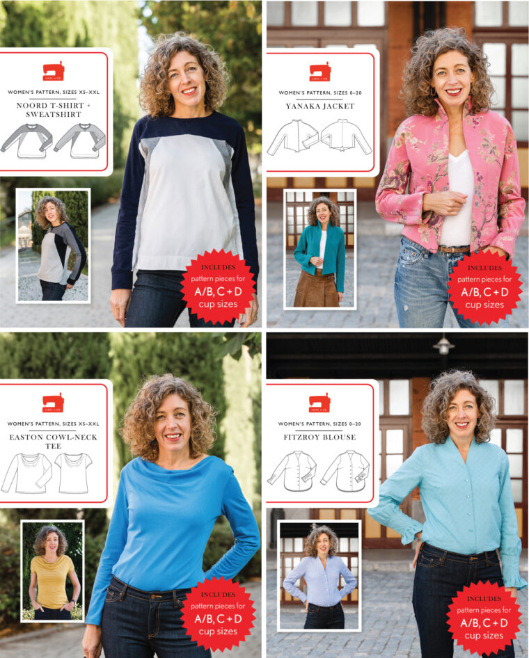four new Liesl + Co sewing patterns