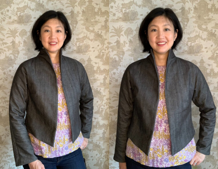 Erica made two DIY cropped jackets from the Yanaka Jacket pattern.
