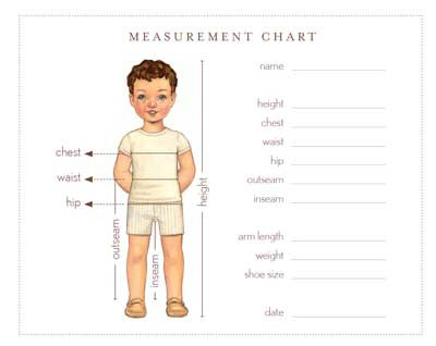 Measurement Chart  Free Sewing Patterns  Oliver  S