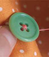 How to sew a button with Liesl Gibson