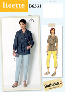 lisette for butterick B6331 sewing pattern