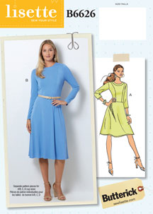 lisette for butterick B6626 sewing pattern