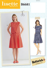 lisette for butterick B6681 sewing pattern