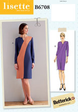 lisette for butterick B6708 sewing pattern