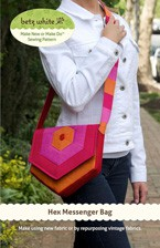 digital hex messenger bag sewing pattern