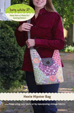 digital hexie hipster bag sewing pattern