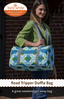 digital road tripper duffle bag sewing pattern