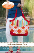 digital smile and wave tote sewing pattern