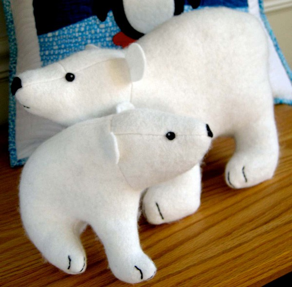 Digital Flurry And Fluff Polar Bears Sewing Pattern | Shop | Oliver + S