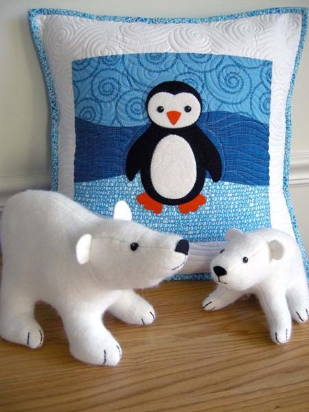 Digital Polar Babies Quilt Pillow Sewing Pattern Shop