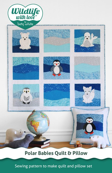digital polar babies quilt + pillow sewing pattern