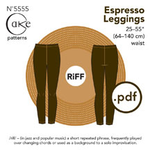 digital espresso leggings sewing pattern