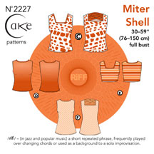 digital miter shell sewing pattern