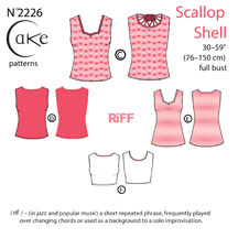 digital scallop shell sewing pattern