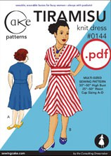 digital tiramisu knit dress sewing pattern