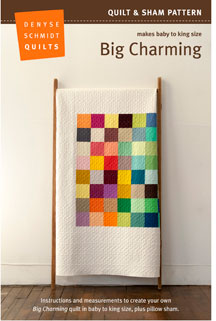digital big charming quilt + sham pattern