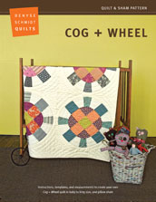 digital cog + wheel quilt + sham pattern