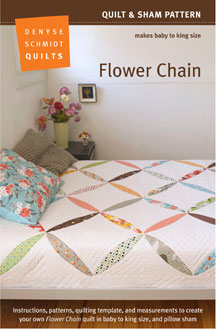 digital flower chain quilt + sham pattern