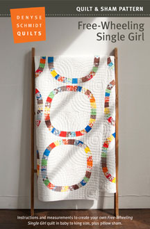 digital free-wheeling single girl quilt + sham pattern