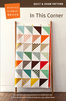 digital in this corner quilt + sham pattern