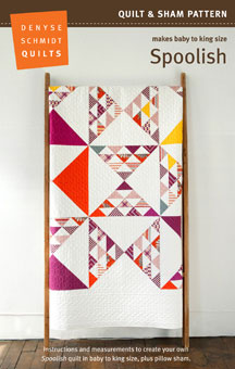 digital spoolish quilt + sham pattern