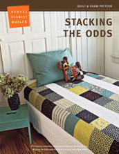 digital stacking the odds quilt + sham pattern