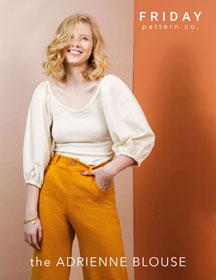 digital adrienne blouse sewing pattern