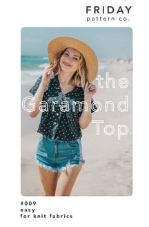 digital garamond top sewing pattern